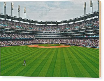 Center Field Wood Print by Frozen in Time Fine Art Photography