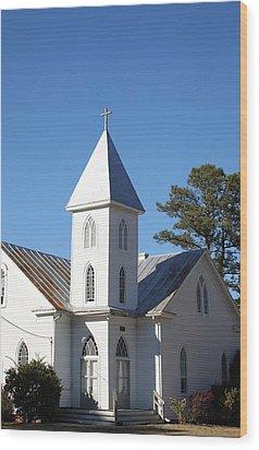 Center Hill United Methodist Church Wood Print by Carolyn Ricks