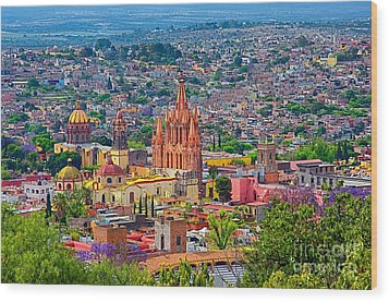 Center Of San Miguel De Allende Wood Print