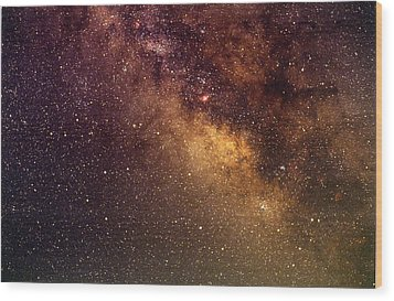 Center Of The Milky Way Wood Print by Alan Vance Ley
