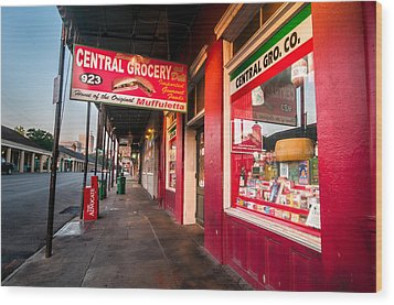 Central Grocery And Deli In New Orleans Wood Print by Andy Crawford