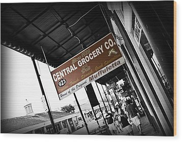 Central Grocery Wood Print by Scott Pellegrin