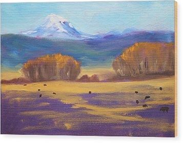 Central Oregon Wood Print by Nancy Merkle