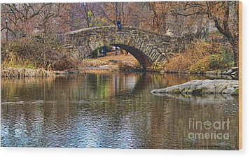 Central Park II Wood Print by Chuck Kuhn