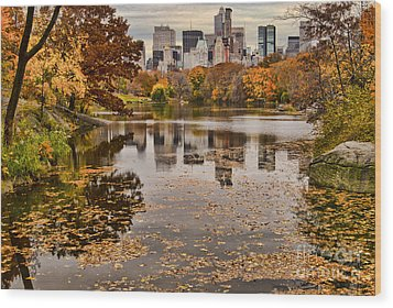 Central Park In The Fall New York City Wood Print