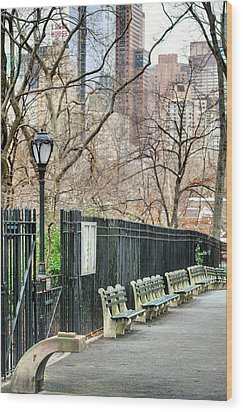 Central Park Wood Print by JC Findley