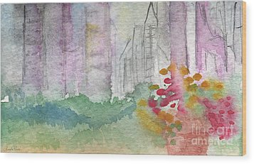 Central Park  Wood Print by Linda Woods