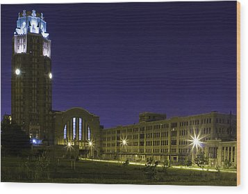 Wood Print featuring the photograph Central Terminal At Night  by Don Nieman