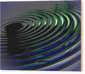 Centrifugal Abstract Wood Print