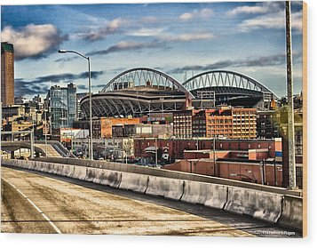 Century Link Field Seattle Washington Wood Print