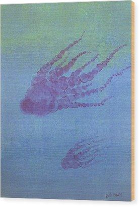 Cephalopod Wood Print by Rich Mason