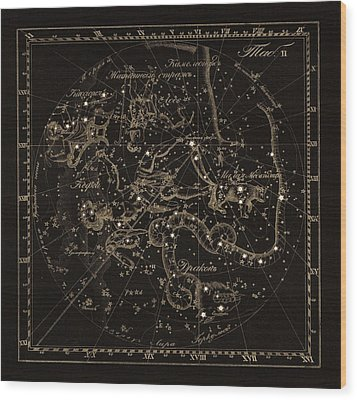 Cepheus Constellations, 1829 Wood Print by Science Photo Library