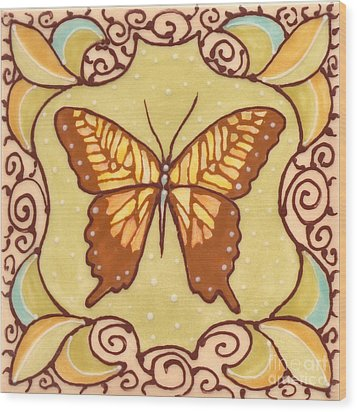 Ceramic Butterfly Wood Print by Anna Skaradzinska