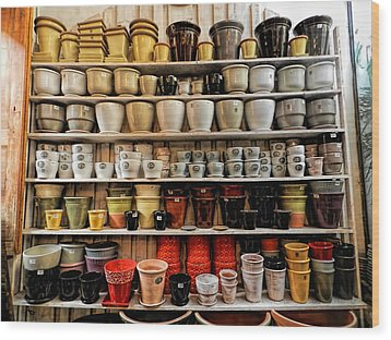 Ceramic Pots For Sale Wood Print