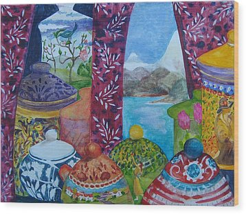 Ceramics View 3 Wood Print by Karen Coggeshall