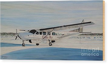 Wood Print featuring the painting Cessna 208 Caravan by Marilyn  McNish