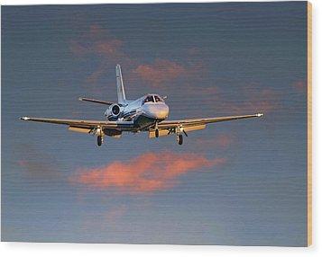 Cessna Citation Wood Print by James David Phenicie