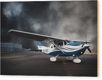 Cessna Ground Wood Print by Paul Job