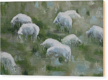 Cezanne Sheep Wood Print