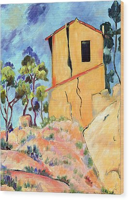 Cezanne's House With Cracked Walls Wood Print by Jamie Frier