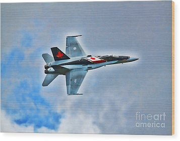 Wood Print featuring the photograph Cf18 Hornet  by Cathy  Beharriell