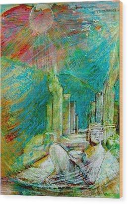 Chacmool De Chichen Itza Wood Print
