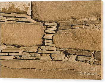 Chaco Bricks Wood Print by Steven Ralser