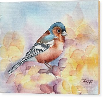 Chaffinch 3 Wood Print by Inese Poga