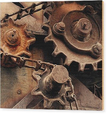 Chain Driven  Wood Print by Steven Milner