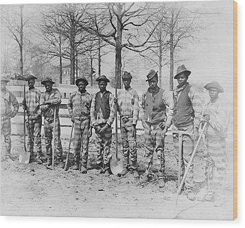 Chain Gang C. 1885 Wood Print by Daniel Hagerman