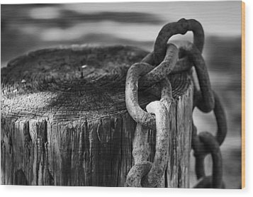 Chained... Wood Print by Eduard Moldoveanu