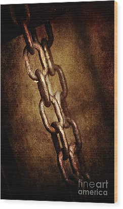 Chains Wood Print by Jelena Jovanovic