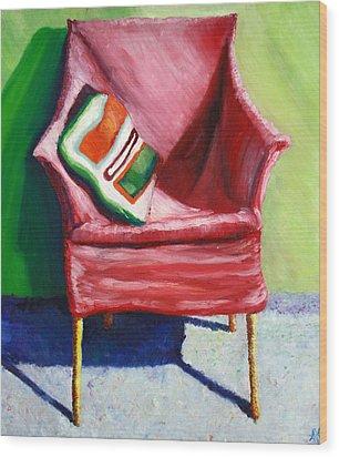 Chair Wood Print by Aletha Keogh
