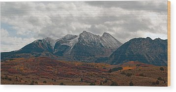 Wood Print featuring the photograph Chair Mountain  by Eric Rundle
