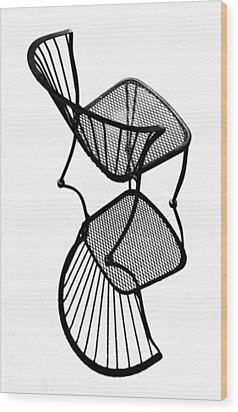 Chair Silhouette Wood Print by Christopher McKenzie