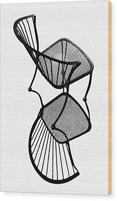 Chair Silhouette Wood Print