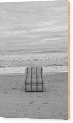 Chair Wood Print by Thomas Leon