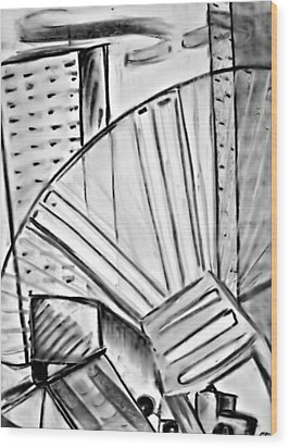 Chair..man Of The Industry Wood Print by John Grace