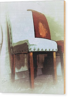 Chairs Wood Print by Robert Smith