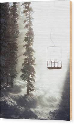 Chairway To Heaven Wood Print by Kevin Munro