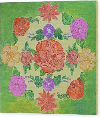 Chaitra Mandala Wood Print by Sonali Gangane