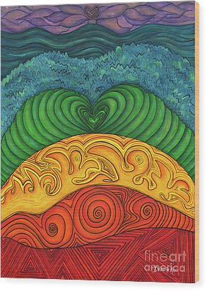 Chakra Ascension Wood Print