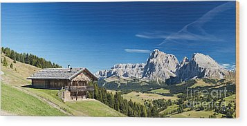 Chalet In South Tyrol Wood Print by Carsten Reisinger