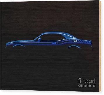 Challenger Silhouette Wood Print by Paul Kuras