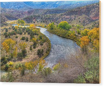 Chama River Overlook Wood Print by Alan Toepfer