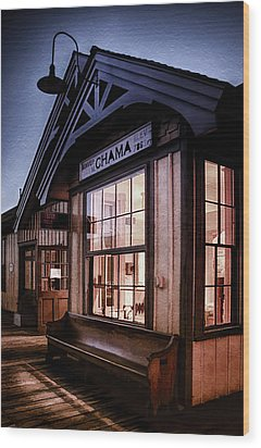 Wood Print featuring the photograph Chama Train Station by Priscilla Burgers