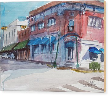 Chamber Of Commerce Mineola Tx Wood Print by Ron Stephens