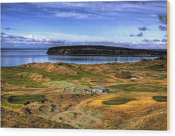 Chambers Bay Golf Course Wood Print by David Patterson