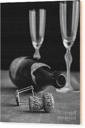 Champagne Bottle Still Life Wood Print by Edward Fielding
