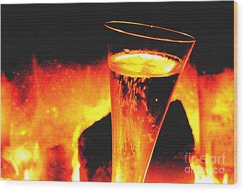 Champagne Wishes Wood Print by Jerome Stumphauzer